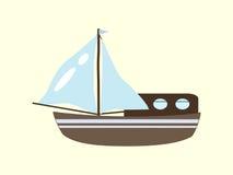 Segelbootyacht-Kreuzfahrtreise Stockbilder