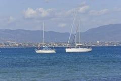 segelbåtar Arkivfoton