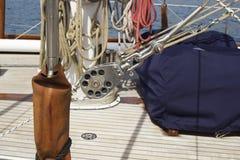 Segelbåtdetalj Arkivfoton