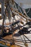 Segelbåtdetaljer Arkivfoto