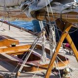 Segelbåtdetaljer Arkivbilder