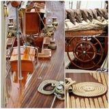 Segelbåtdetaljer Arkivbild