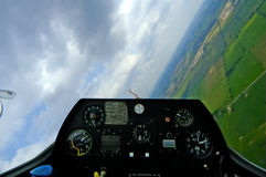 Segelflugzeug-Cockpit-Neigung w/Path lizenzfreie stockfotos