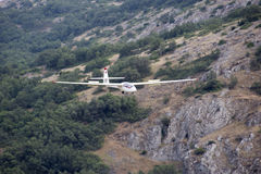 Segelflugzeug im Himmel Stockfotografie