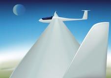 Segelflugzeug ist hochfliegend Stockfotos