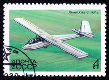 Segelflugzeug KAI-12, Simonov, 1957, circa 1983 Lizenzfreie Stockfotos
