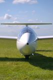 Segelflugzeugportrait Stockfoto