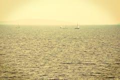 Segeln auf adriatisches meeres- Kroatien Lizenzfreie Stockbilder