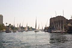 Segeln auf den Nil Stockbild