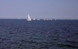 Segeln auf Ostsee Stockfotos