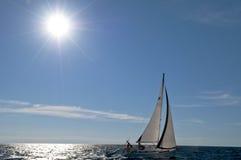 Segeln auf Yacht Lizenzfreie Stockfotografie