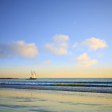 Segeln-Boots-Seilzug-Strand Broome Australien Stockfotografie