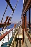 Segeln in das Ägäische Meer Lizenzfreie Stockbilder
