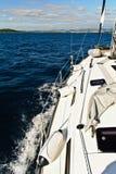 Segeln in das adriatische Meer Stockbild