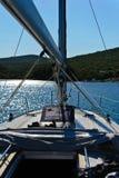 Segeln in das adriatische Meer Stockfotos