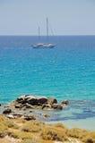 Segeln in das Meer von Sa Ruxi Stockbilder
