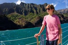 Segeln der Napali Küste Kauai Stockbilder