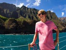 Segeln der Napali Küste Kauai Stockfoto