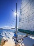 Segeln in die Karibischen Meere Stockfotografie
