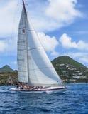 Segeln in die Karibischen Meere Stockbild