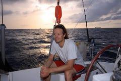 Segeln in Karibische Meere Lizenzfreie Stockfotos