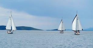 Segeln in Kroatien Stockfotos