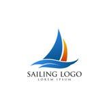 Segeln Logo Vector Stockfoto