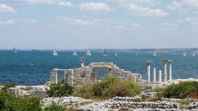 Segeln Regatta an der Küste von Chersonese Taurian Lizenzfreie Stockfotos