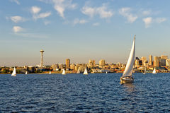 Segeln in Seattle Stockbilder