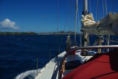Segeln von Karibischen Meeren Stockfotografie