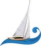 Segelnboot Lizenzfreies Stockfoto