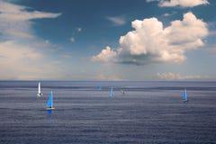 Segelnboote Stockfotos
