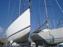 Segelnboote Lizenzfreie Stockfotos