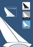 Segelnbootszeichen Stockfotos