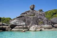 Segelnfelsen, 8. similan Insel Lizenzfreie Stockfotos