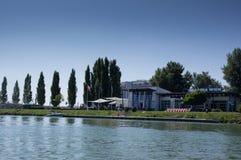 Segelnhafen in Wien Stockfotos