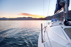 Segelnozeanboot Stockfotos