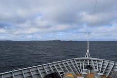 Segelschiff im Nord-Atlantik Lizenzfreies Stockbild