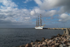Segelschiff Mir RUS Stockbild