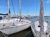 Segelschiffe in Nida-Jachthafen, Litauen Lizenzfreie Stockfotos