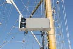 Segelschiffgrünstern boаrd Licht Stockbilder