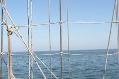 Segelschiffseile Stockbild