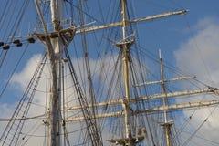 Segelschifftakelung Stockfotos