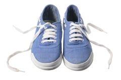 Segeltuch-Schuhe lizenzfreie stockbilder