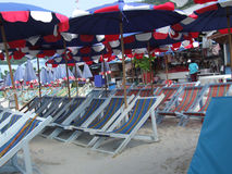 Segeltuch-Seat-Strand Stockbilder