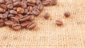 Segeltuch- und coffebohnen Lizenzfreie Stockfotografie