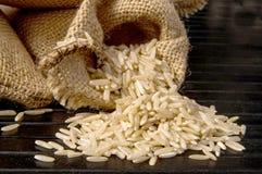 Segeltuch und Reis Lizenzfreie Stockfotos