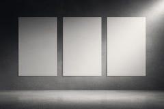 Segeltuchrahmen auf Zementschmutz-Wandhintergrund vektor abbildung