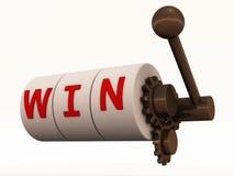 seger för kasinomaskinöppning Arkivbilder