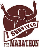 seger för löpare för maratonracekörning Arkivbild